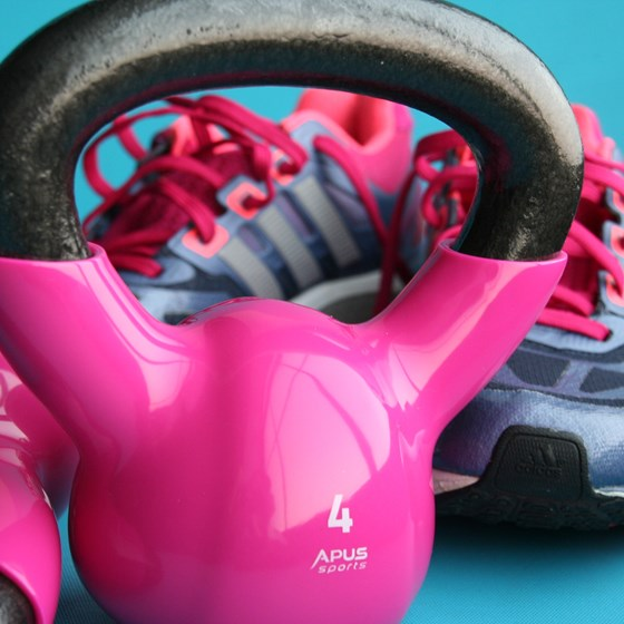 Kettlebells and trainers