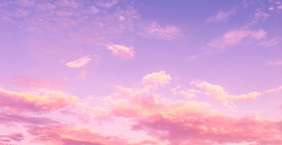 Sunset sky with pink clouds