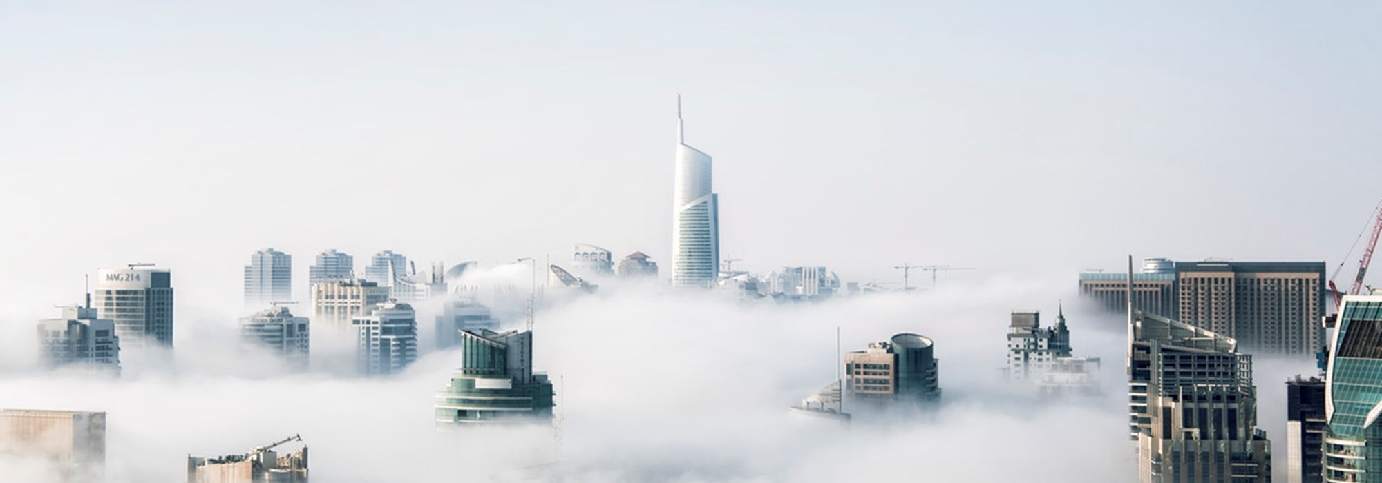 cloud covering a city