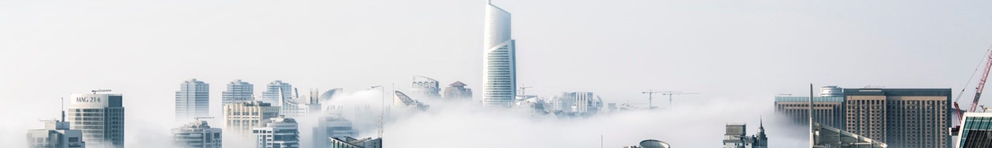 Clouds covering a city