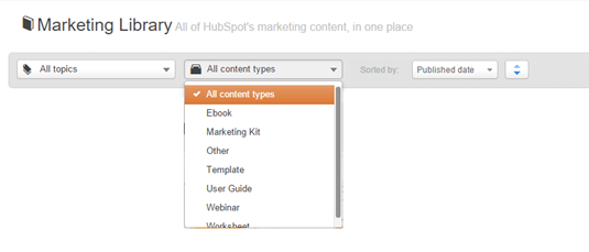 Hubspot Resources Content Types