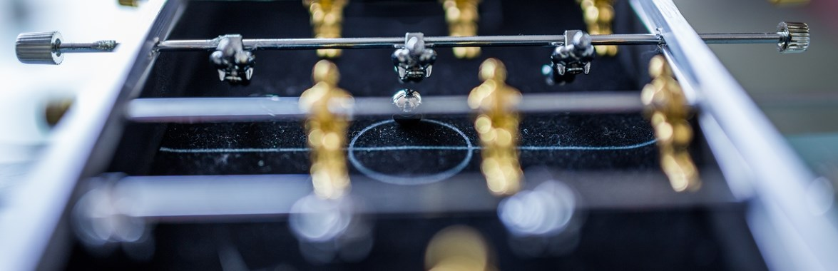 Table football close-up