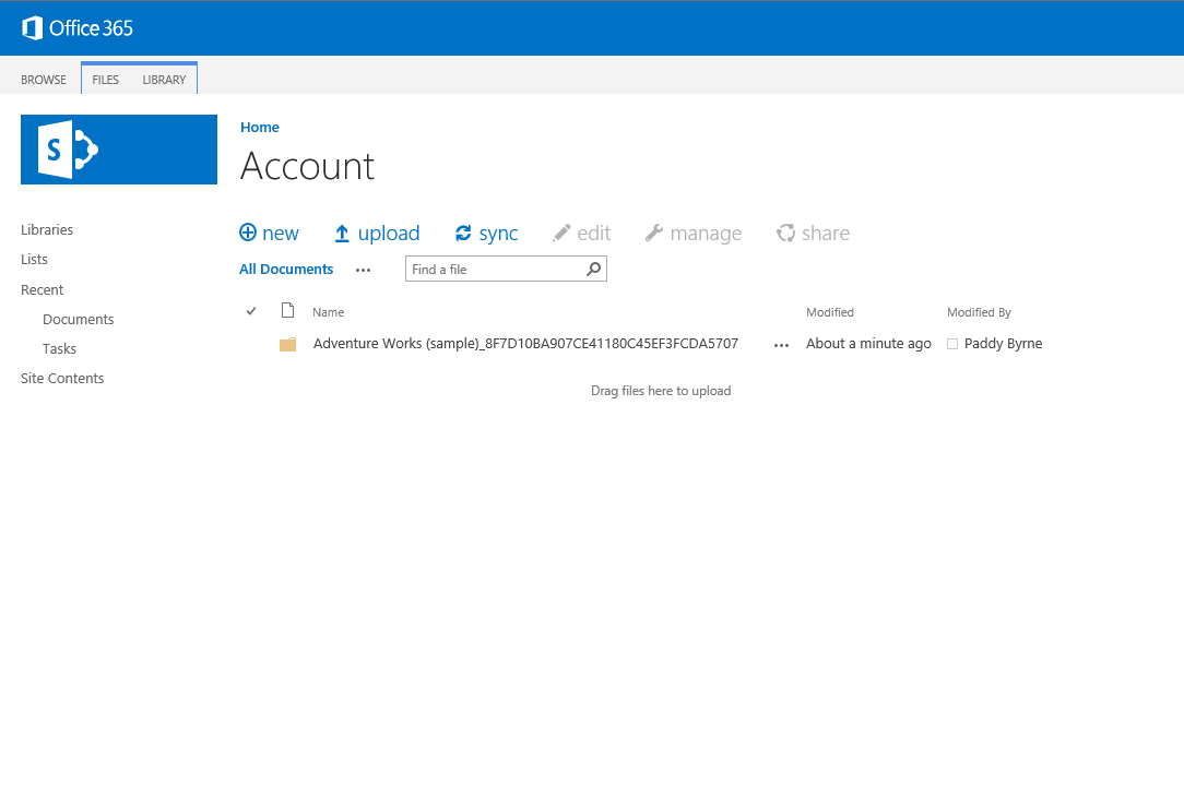 Office 365 SharePoint account