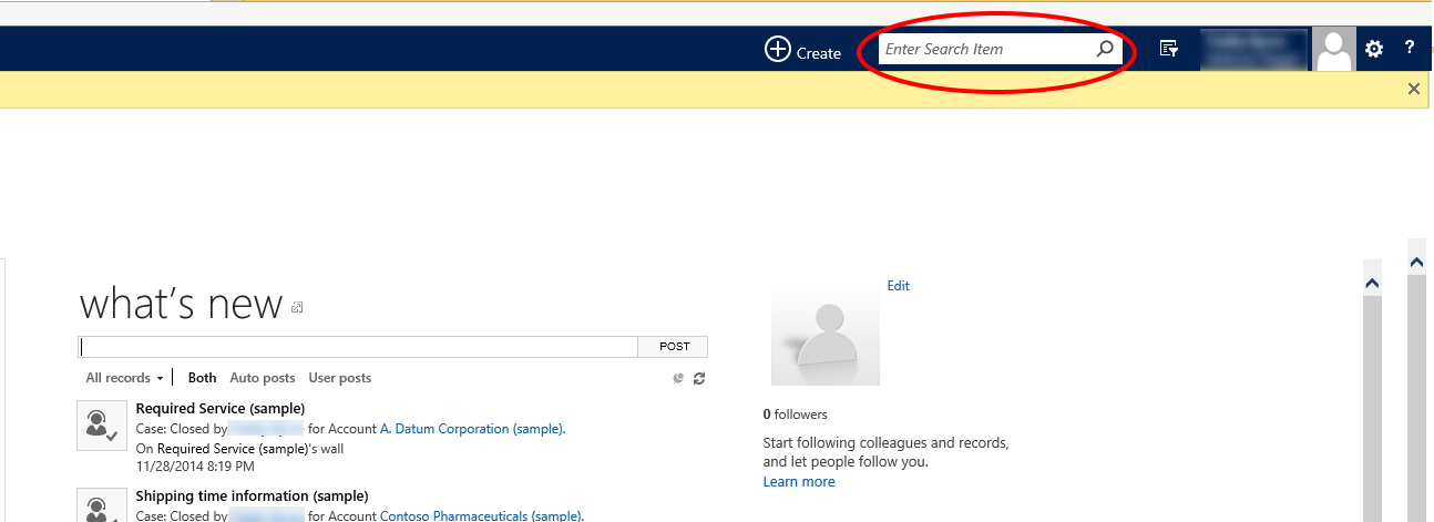 cross entity search CRM 2015