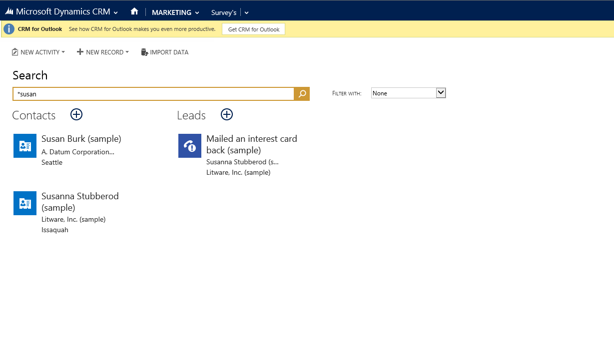 Microsoft Dynamics CRM 2015 | Cross Entity Search