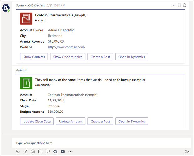Integrating Dynamics 365 with Microsoft Teams   Private Preview