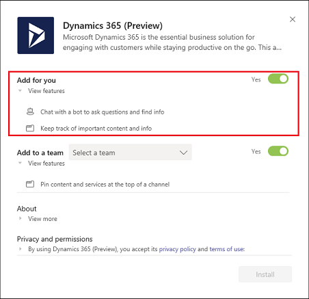 Integrating Dynamics 365 with Microsoft Teams | Private Preview