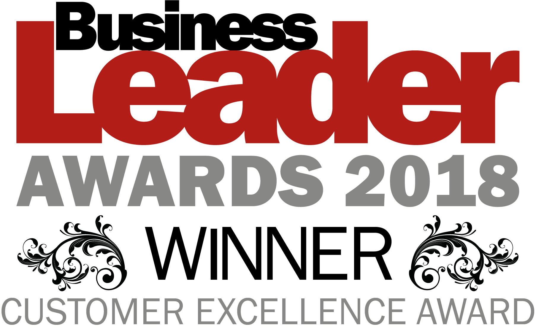 Business leader awards winner logo customer excellence