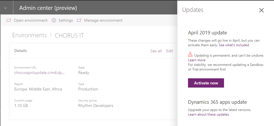 Microsoft Dynamics 365 April 2019 update: Was that v10?