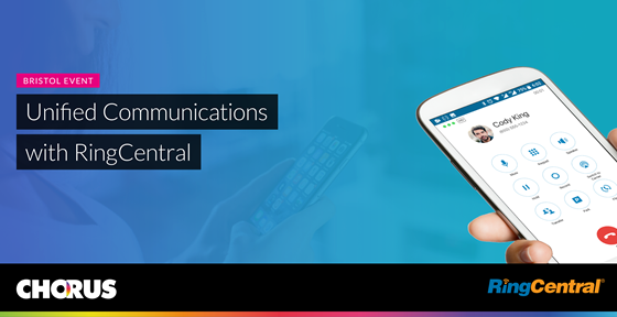 Cloud phone systems and Unified Communications with Ring Central and Chorus event banner