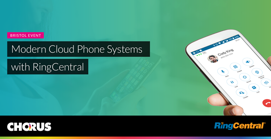 Modern cloud phone systems with Ring Central and Chorus event banner