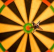 Dart on a dartboard