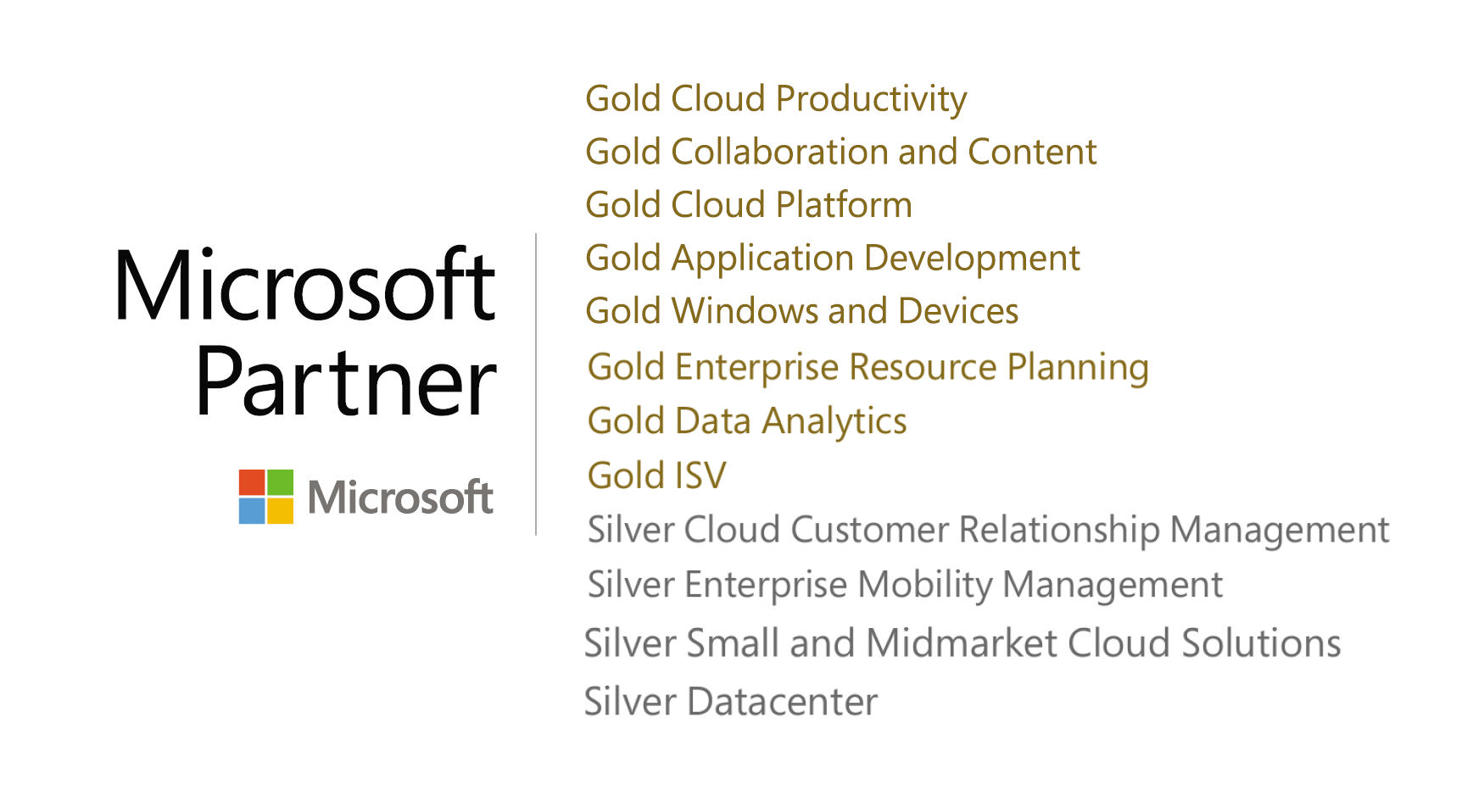 Chorus Gold and Silver Microsoft Competencies