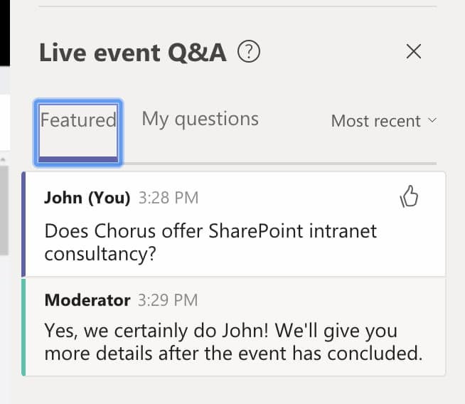 Microsoft Teams Live Events