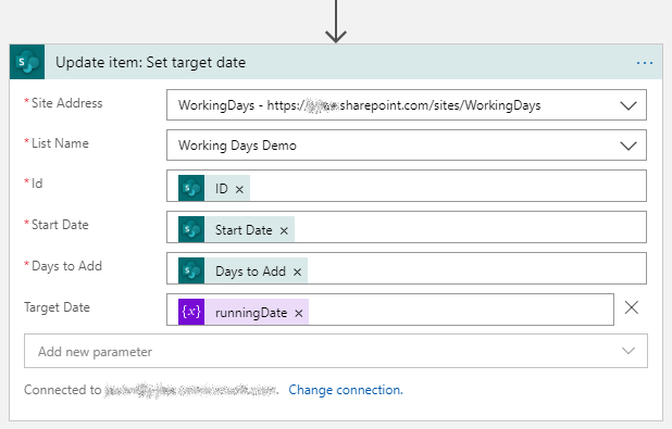 Update item to write value back to a SharePoint list item