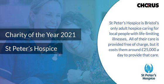 Charity of the Year 2021 St Peters Hospice Chorus